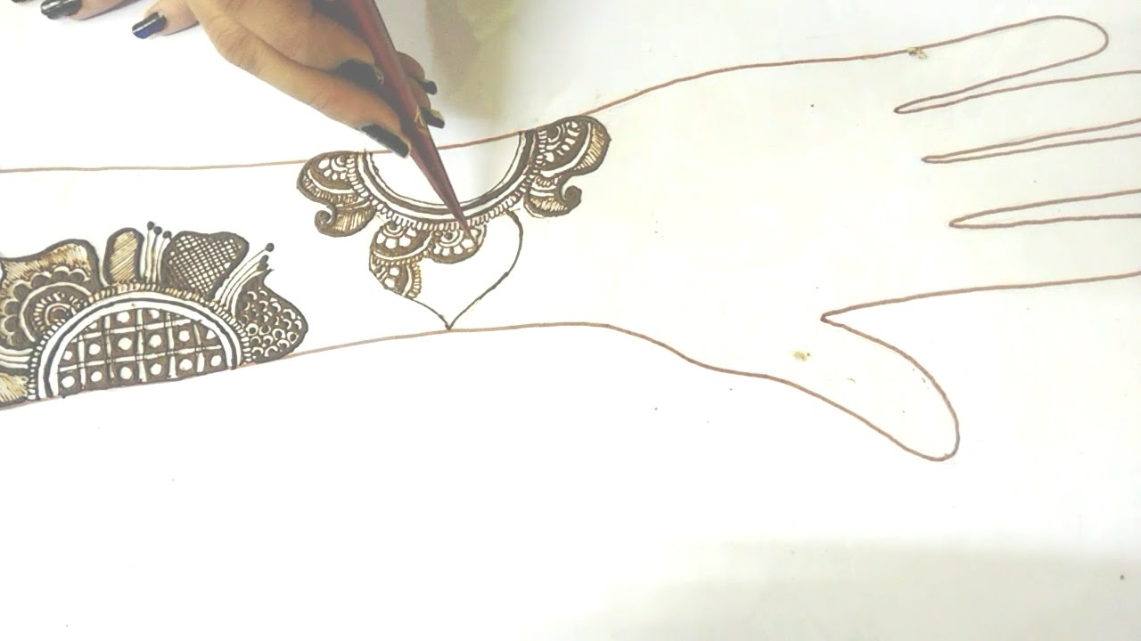 How To Draw Mehndi Designs On Paper Youtube