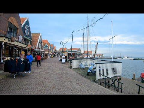 Walking In Volendam At Dusk ⛵ | The Netherlands - 4K60