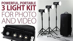 Powerful, Portable 3 Light Kit for Photo and Video - The LED100WB 3 Light Kit from Fotodiox