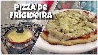 PIZZA DE FRIGIDEIRA  COMO FAZER PIZZA  RECEITA MEGA SIMPLES #ANENACOZINHA