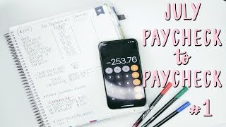 Budget With Me: Paycheck to Paycheck - July #1 | E.Michelle