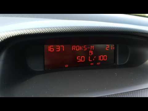 Peugeot 308, 120лс, 1.6 бензин, 2008 - расход топлива (Пежо 308)