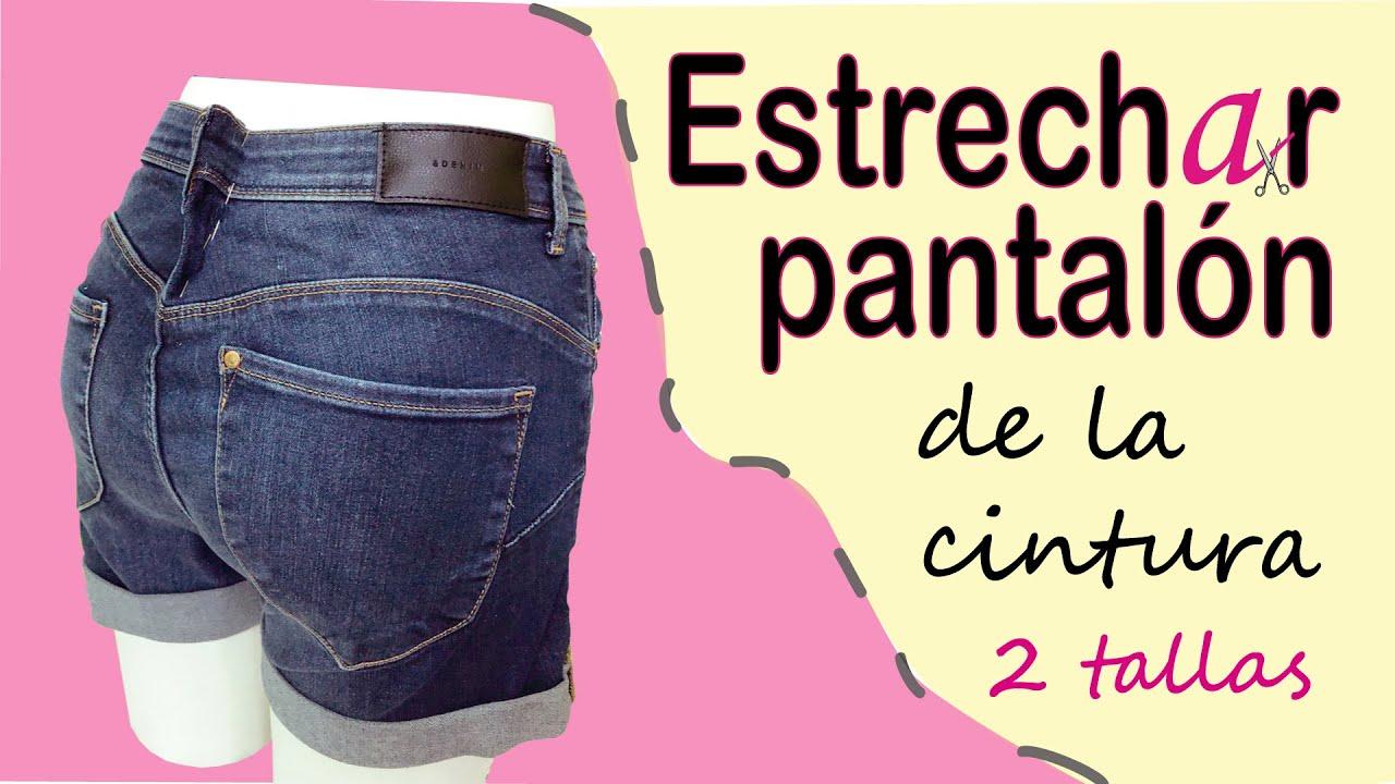 DIY. ESTRECHAR PANTALÓN DE LA CINTURA 2 tallas. Paso a paso. Recomendación. reducir cintura jeans.