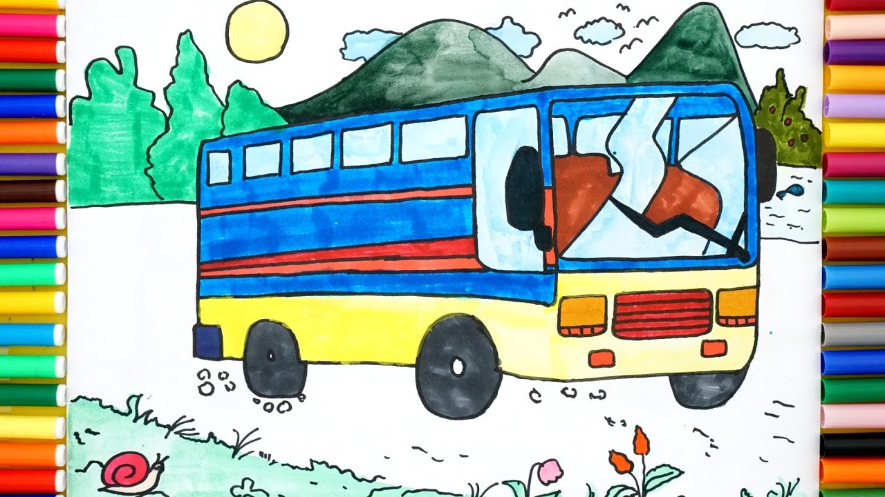 How To Draw A School Bus Easy Step By Step