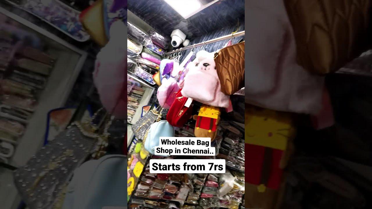 Rs 7 முதல் Wholesale Bag Shop in Chennai | Bag Market | Wholesale Business | Online Shopping #Shorts