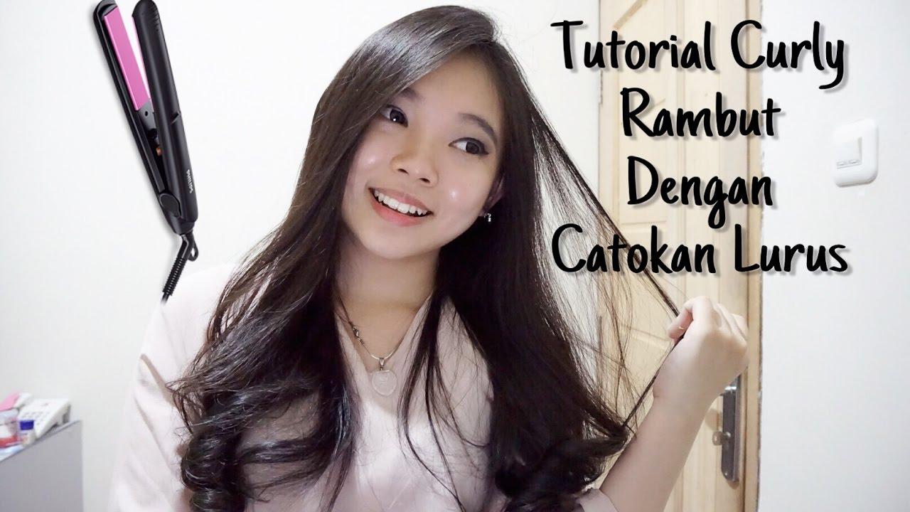 tutorial curly rambut dengan catokan lurus how i curl my hair