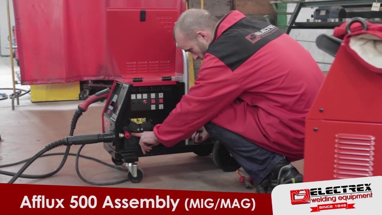 Open arc / Mig welding wire feeder - YouTube