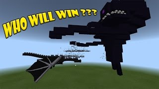 Ender Dragon vs Wither Storm   Minecraft PE
