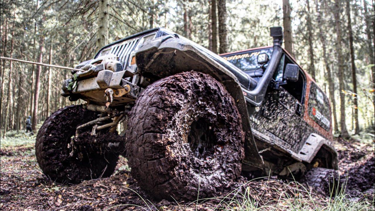 Hummer и Jeep Wrangler в торфяниках!