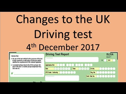 The  UK driving test is changing -4th Dec 2017