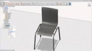 Bent Plywood Chair With A Steel Pipe Frame
