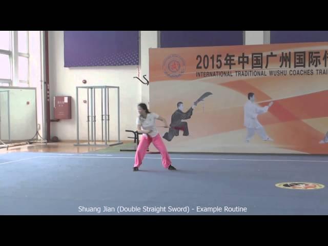 Shuang Jian (Double Straight Sword) - Example Routine / Шуан Цзянь (двойной прямой меч) - пример обычной