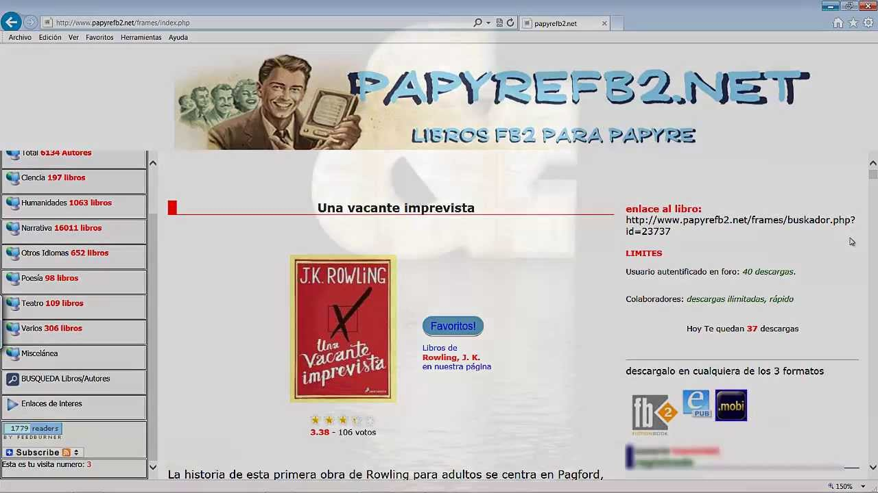 Descargar Libros Fb2 Papyre Ebook