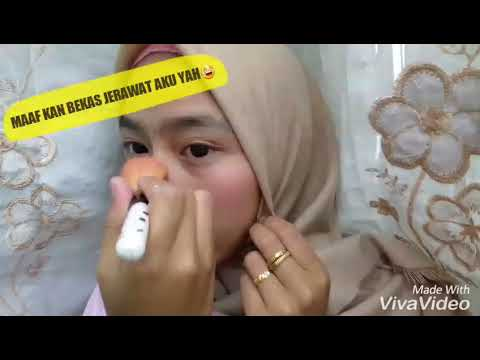 tutorial-makeup-hanya-dengan-menggunakan-bedak-bayi,lipstik,dan-blush-on.