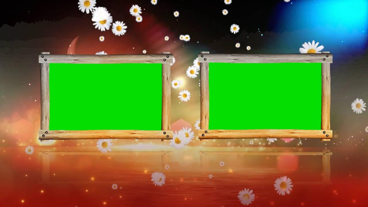 Green Mat Wedding Frame Animated Video Free Downloads