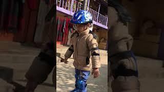 #Kids #Adventure #Skatting साहसिक खेलमा  ३ र ४बर्षे बालक स्वपनिल र दिक्षान्तको बढ्दो रुचि