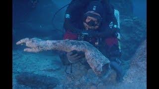 アンティキティラ島の沈没船からお宝発見。7体目となるブロンズ像の腕の他金属や青銅の円盤、石棺の蓋などが見つかる