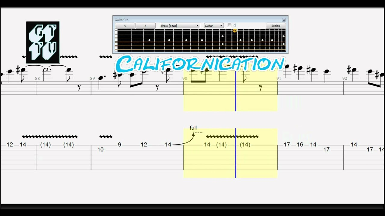 How to play Californication by Red Hot Chili Peppers ...