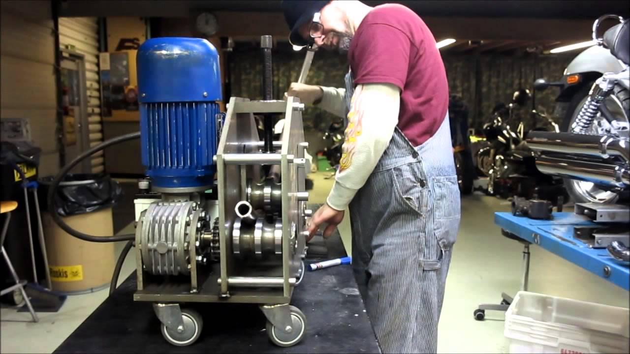 Home Made Tubing Roller Youtube