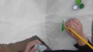 Aprenda uma maneira super fácil de pintar folhas