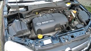 Opel Corsa C 1.3 CDTI engine cold start -4°C