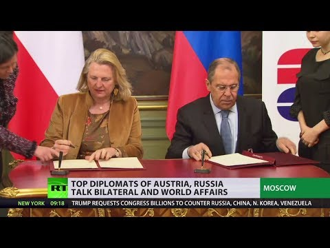 Top diplomats of Austria and Russia talk bilateral and world affairs