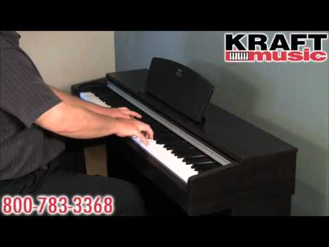 kraft music yamaha arius ydp 141 digital piano demo youtube. Black Bedroom Furniture Sets. Home Design Ideas