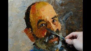 Как написать портрет мастихином? Урок с Сергеем Гусевым.