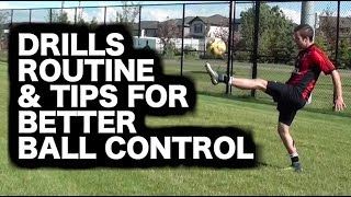 How to practice soccer ball control by yourself | Football practice | How to juggle a soccer ball