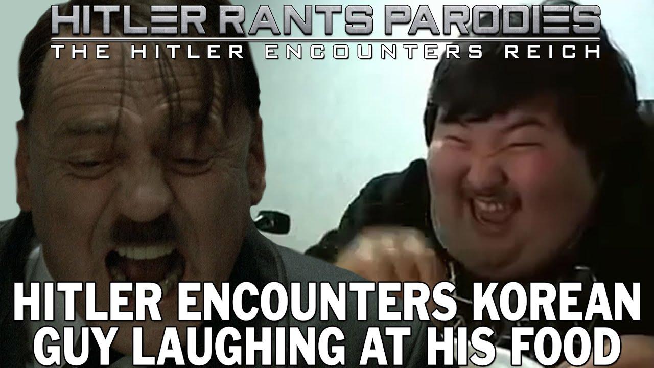 Hitler encounters Korean guy laughing at his food