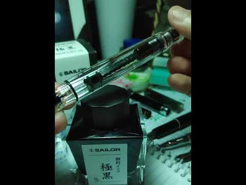 Piston fill fountain pen refill as a beginner - TWSBI Eco T Clear