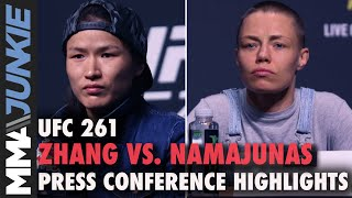 Zhang Weili vs. Rose Namajunas press conference highlights | UFC 261