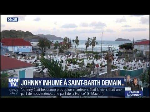 """Johnny Hallyday: une sépulture """"modeste"""" à Saint-Barthélemy"""