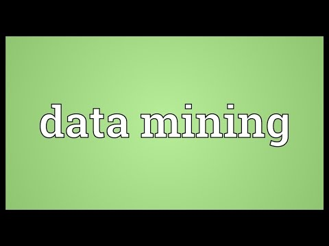 Data Mining Meaning
