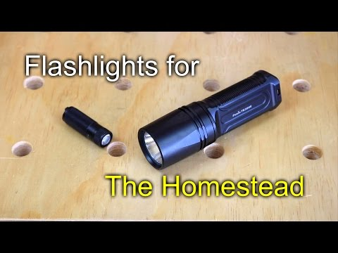 Flashlights for the Homestead - Fenix TK35 & E15