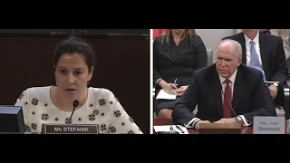 Rep. Elise Stefanik asks questions at Brennan hearing