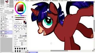 Урок по обработке пони в Paint Tool SAI МЫШКОЙ.