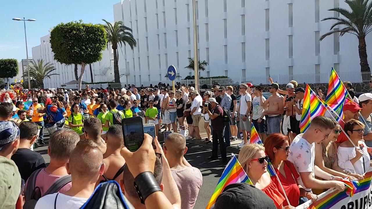 Maspalomas Gay Pride 2018 Gran Canaria parade opening