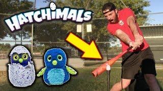 HITTING RANDOM OBJECTS (EPISODE 2) *Featuring Hatchimals* IRL Baseball Challenge