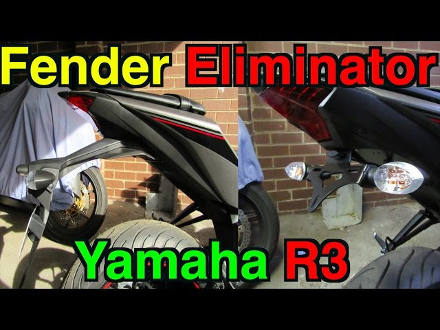 Yamaha R3 Fender Eliminator Installation Video - How To R&G Tail Tidy Kit