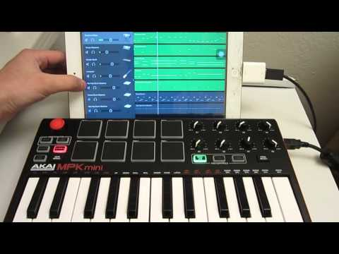 how to connect mpk mini to ipad