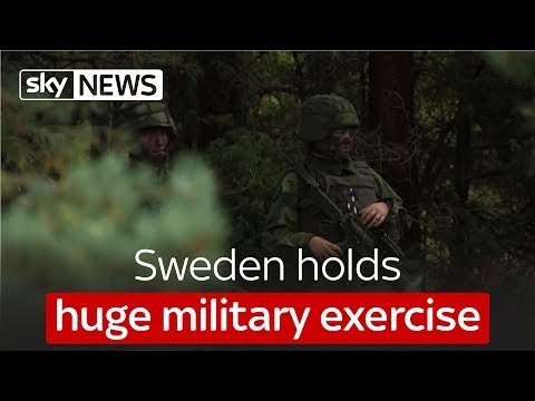 Sweden holds huge military exercise