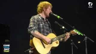 Ed Sheeran surprises young fan, talks about overcoming childhood stutter