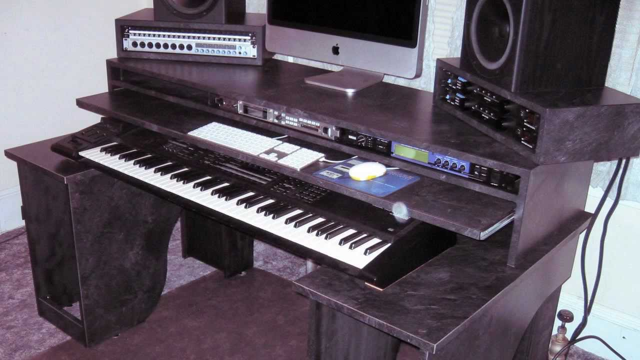 home studio desk design.  Home Studio Production Desk YouTube