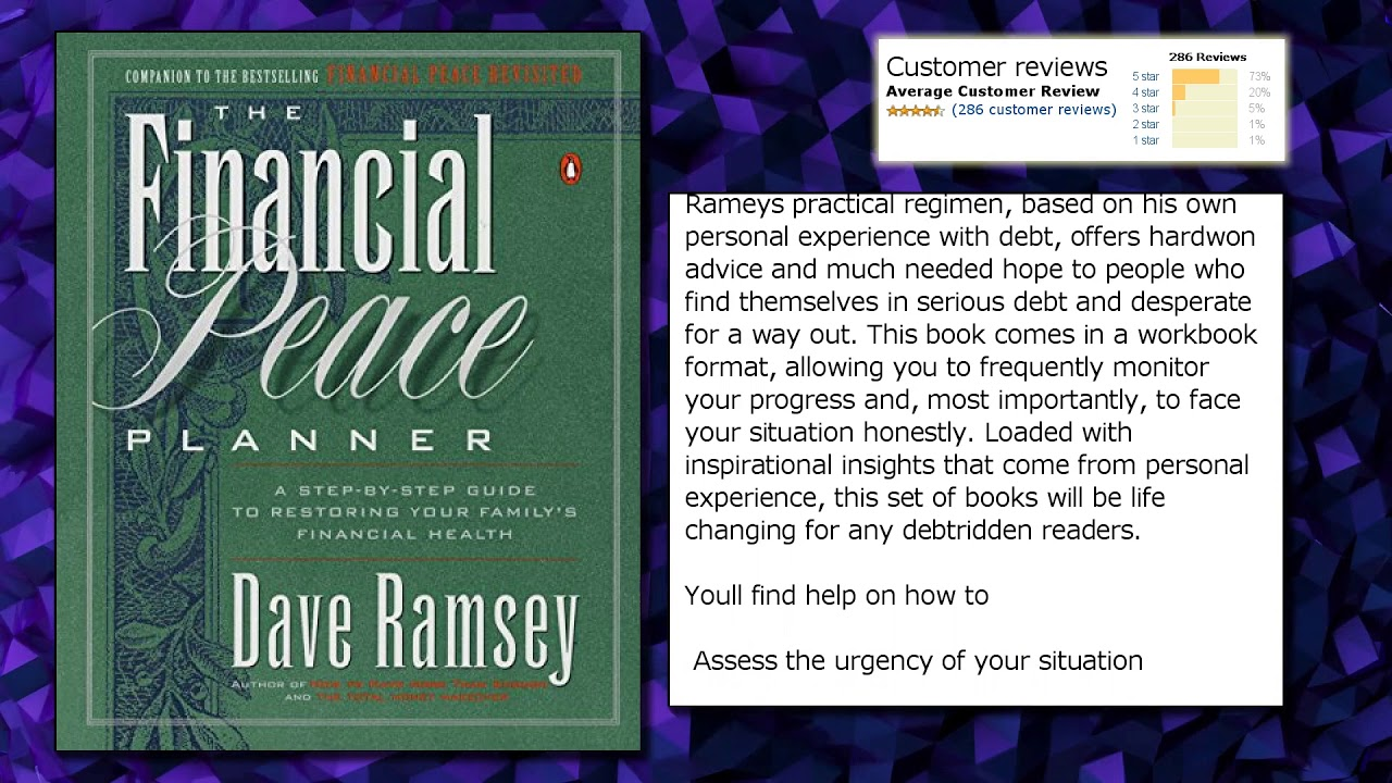 The Financial Peace Planner: A Step-by-Step Guide to Restoring ...