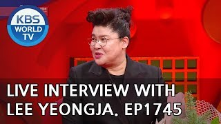 Live Interview with Lee Yeongja [Entertainment Weekly/2019.01.14]
