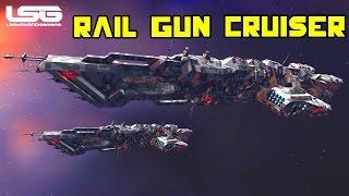 Space Engineers - Majersk Rail Gun Cruiser
