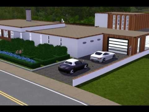 Moderne sims 3 villa youtube for Sims 3 cuisine moderne