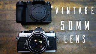 Vintage 50mm Lens On Lumix G7