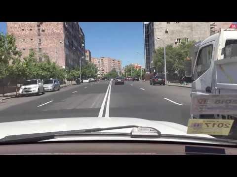 Ереван - выезжаем из центра в сторону озера Севан